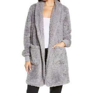 BP Light Grey Sleet Fleece Cardigan Sweater 1X